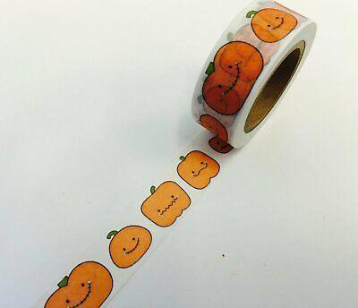 Happy face pumpkin Washi Tape Papercraft Planner Supply Journal bujo halloween - Pumpkin Happy Face