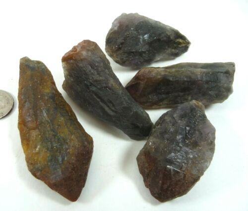 Super 7 Melody Stone Crystal Points Brazil 140 grams 5 piece lot