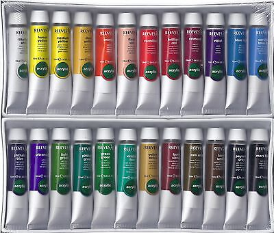 REEVES ACRYLIC PAINTS ~ 24 PC PAINT SET ~ NEW! on Rummage