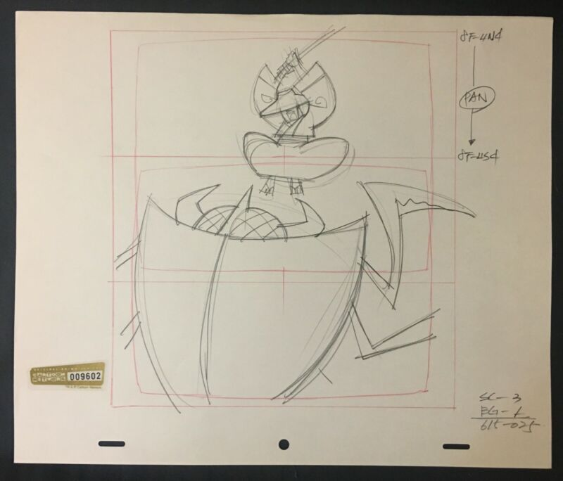 Samurai Jack - Production Drawing - Samurai Jack Robot Bug Slice - 01-04