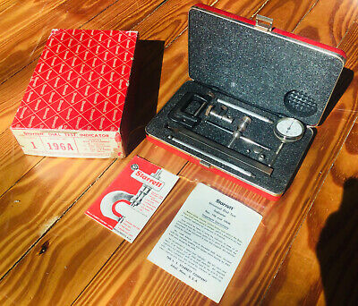 Starrett 196a Dial Test Indicator Set Complete With Attachments