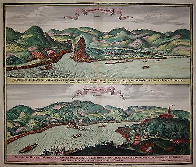 St. Nikola an der Donau - Donaustrudel - Matthäus Seutter - Original um 1740