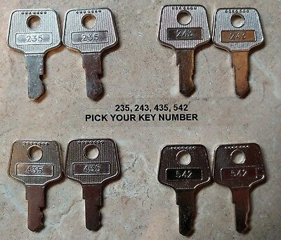 Pair Of Apg 235 243 435 542 Keys For Vasario Cash Drawers - Register Till Key