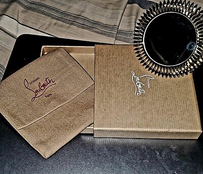 Christian Louboutin Gold Beauty Travel Mirror New In Box