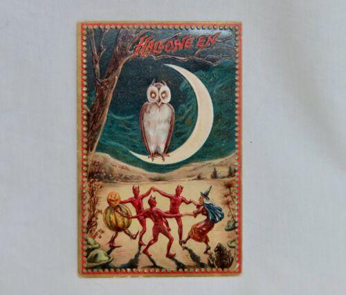 Vintage Raphael Tuck 160 Halloween Postcard Dancing Devils -  80762