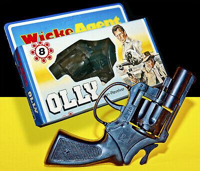 PRE LONE STAR ☆ WICKE ☆ OLLY AGENT PISTOLE ☆ 80s TOY CAP GUN ACTION REVOLVER ☆