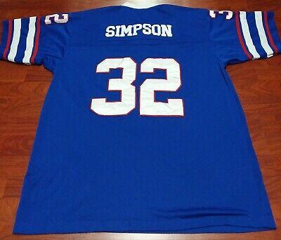 Buffalo Bills OJ Simpson Size 52 Throwback Jersey Mitchell & Ness 1976 Sewn