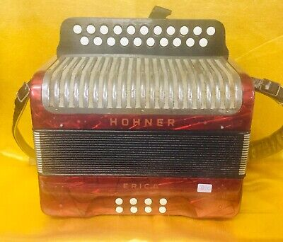 Hohner Erica D/C Irish Dry Tuned 21 button accordion Used
