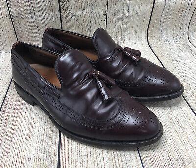 Allen Edmonds BERWICK Leather Tassel Slip On Loafers Merlot Shoes Men's 10 EEE
