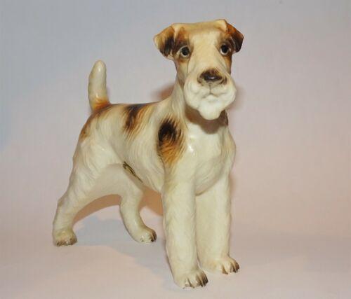 Vintage Inarco Porcelain Ceramic Wire Fox Terrier Dog Figurine~Japan