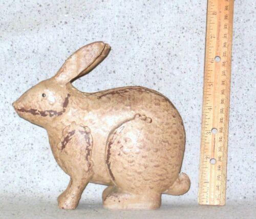NEW~Darling Folk Art Bunny Rabbit Distressed Wood-Look Primitive Decor Large #1