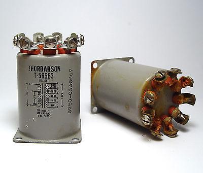 2x Thordarson Audio-bertragertransformer 5 Kohm On 8 Ohm 24 To 0 Db