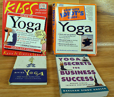 Yoga Books How to  Lot Of 4 Yoga Poses For Mind Body Spirit