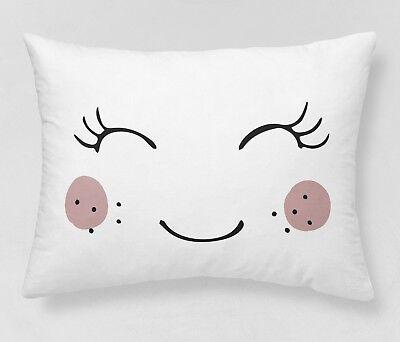 Baumwolle Kissen Panel (Stoff Baumwolle PANEL 50x50 cm Kissen Lächeln)