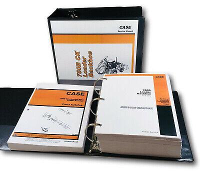 Case 780b Ck Tractor Loader Backhoe Service Repair Manual Parts Catalog Shop Set