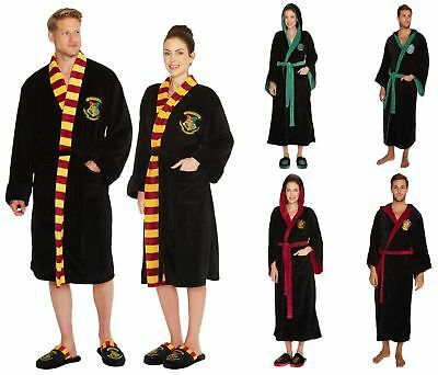 Harry Potter Bathrobe Hogwarts Slippers Gryffindor Slytherine Fleece Robe Groovy - Slytherin Bathrobe
