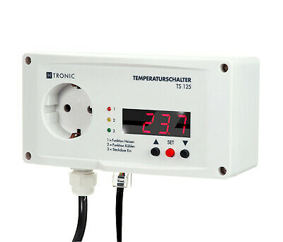 H-Tronic TS125 Electronic Thermostat With 20 M Additional Fühlerverlängerung