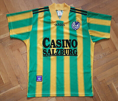 Casino Salzburg 1995-1996 Original Adidas Trikot Shirt Red Bull/Austria Gr. S-M image