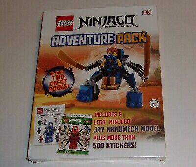 Lego Ninjago Adventure Pack Jay Nanomech Model, 2 Books (one with 500+ stickers)