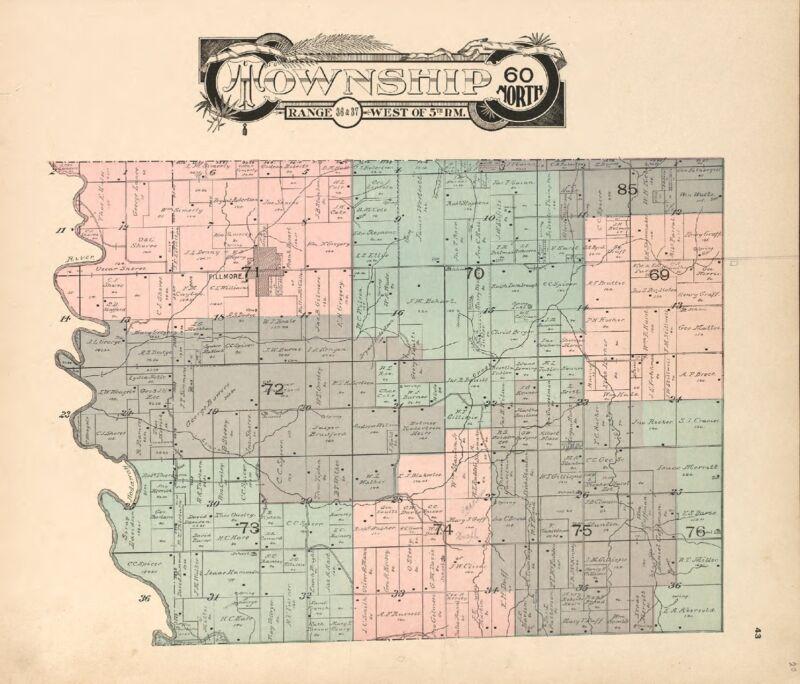 1909 Atlas ANDREW COUNTY MISSOURI plat maps old GENEALOGY history DVD P133