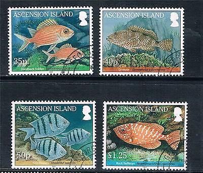 Ascension Is 2010 Reef Fish 4v set SG 1064-7 CTO