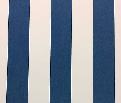 - SUNBRELLA 58029 CABANA REGATTA BLUE STRIPE OUTDOOR FURNITURE FABRIC BY YD 54