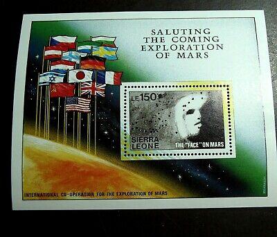 SIERRA LEONE EXPLORATION OF MARS SCOTT #1167-1171 SHEETS OF 9, + SOUVENIR SHEET