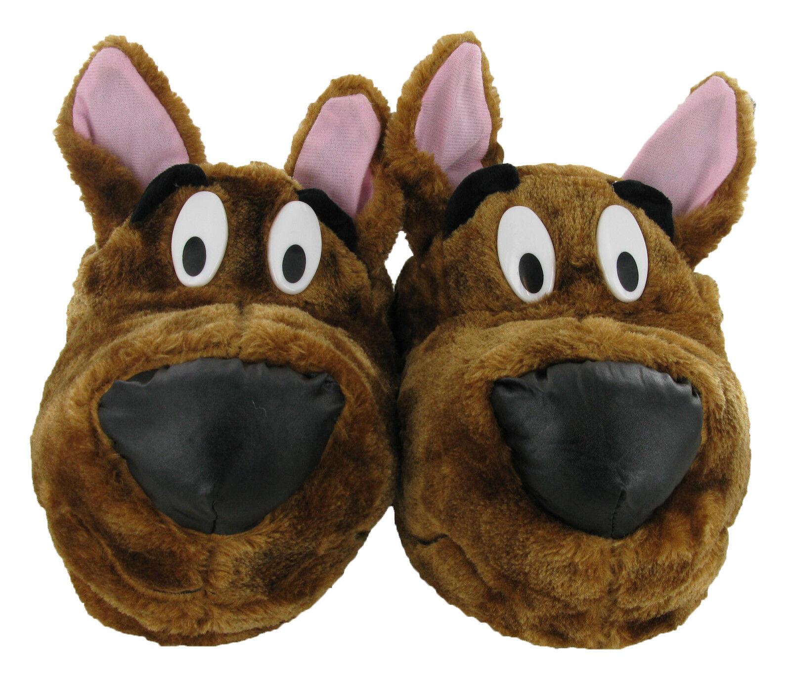 Herren Scooby-Doo Neuheit Braun Warm Flauschig Hausschuhe Größe UK 7-12