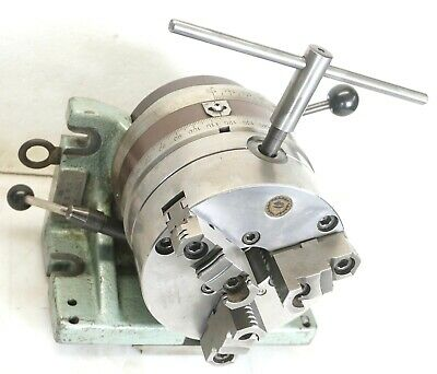 Bison 6 Horizontalvertical Super Spacer Rotary Indexer 6 3 Jaw Chuck Rev Jaws