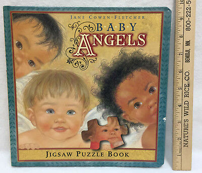 Jigsaw Puzzle Board Book Baby Angels Each Page w/ 9 Pieces Children Hardcover