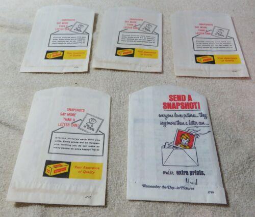 Vintage Kodak Film Developing Prints & Negatives Envelope Lot