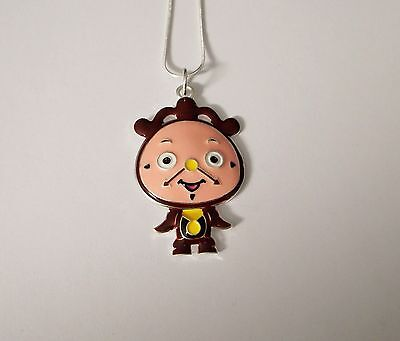 Beauty And The Beast Grandfather Clock (BEAUTY & THE BEAST Inspired Large Charm NECKLACE COGSWORTH Grandfather)