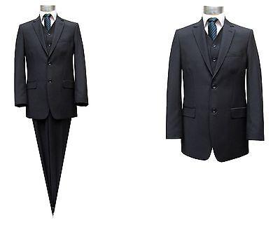 gestreifte Herren Anzug mit Weste Gr.70 Blau