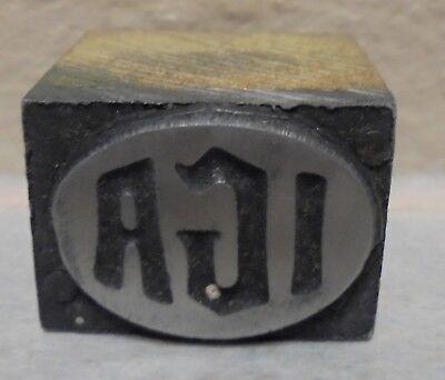 Iga Independent Grocers Alliance Metal Wood Letterpress Printing Block