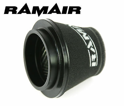 RAMAIR INDUCTION FOAM CONE AIR FILTER UNIVERSAL 100mm NECK HAND MADE IN THE UK