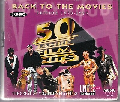 CD : Back To The Movies, 50 Jahre Film Hits Edition 1970-1995 (3 CD Box)