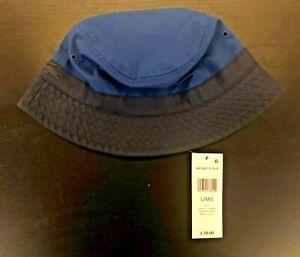 e8981233fe1 NWT LACOSTE Bucket Hat Blue Black Size M L RK3485