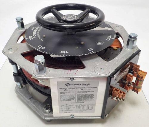 NEW POWERSTAT VARIABLE AUTOTRANSFORMER 1256DU SPEC BP142090 240V 28 AMPS 7.8 KVA