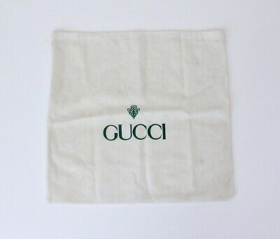 """Vintage Gucci Dust Bag Large White / Green 19"""" x 18.25"""""""