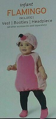 NEW 12-18 Months Baby Flamingo 3-Piece Halloween Costume~Vest+Booties+Headpiece](Pink Flamingo Baby Halloween Costume)