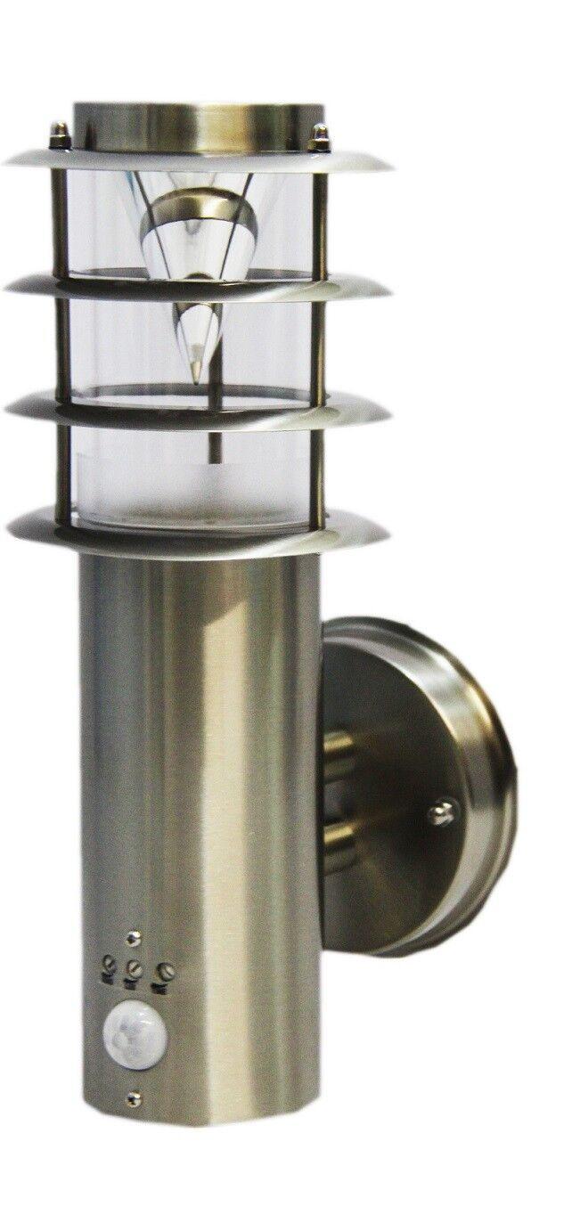 Acciaio Inox Led luce per esterni con rilevatore di movimento lampada parete