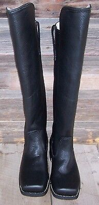 civil war knee high black leather cavalry boots 9