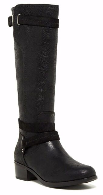 NIB $294 UGG Australia Darcie Leather Tall Riding Women's Boot Shoe Black  Size 5