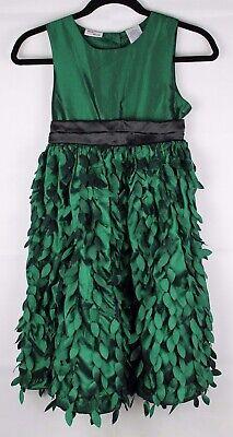 Beri Blau Jugend Mädchen Party Urlaub Kleid Grünes Blatt Kurzärmlig Größe 12 ()