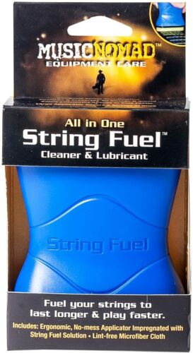Music Nomad MN109 String Fuel All in One Cleaner & Lubricant with Microfiber Clo