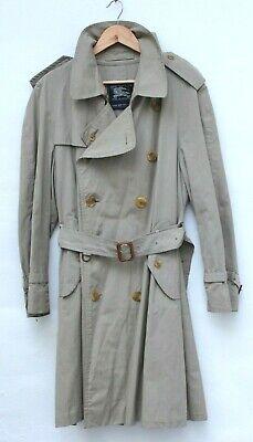 BURBERRY Prorsum vintage mens mac trench nova check beige rain coat jacket 52 L