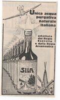 Pubblicità Epoca1929 Sila Acqua Farmacia Salute Advert Werbung Publicitè Reklame -  - ebay.it