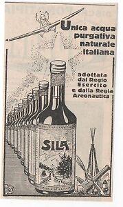 Pubblicita-epoca1929-SILA-ACQUA-FARMACIA-SALUTE-advert-werbung-publicite-reklame