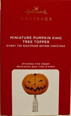 2020 Hallmark Miniature Tree Topper~Pumpkin King Nightmare Before Christmas~ NIB