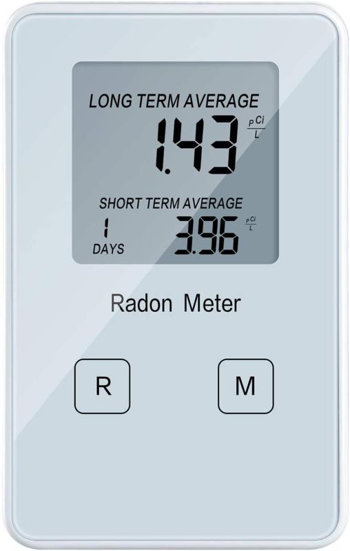 Home Radon Detector, Portable Radon Meter, Long and Short Term Monitor, Recharge